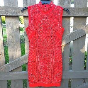 🌼bebe Red Dress with Embellishments Size Medium